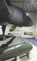 Avro Vulcan B2 XL318 with bombs at RAF Museum, Hendon 05.03.16 (Trevor Bruford) Tags: blue cold london museum lady plane tin hall triangle war force steel aircraft aviation military air royal delta b2 vulcan bomber raf avro squadron 617 hendon vbomber xl318