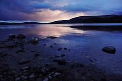 Cold, peaceful lake (anna steppenwolf) Tags: sunset lake water landscape scotland lochlomond