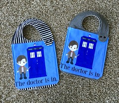 Doctor Who Bibs (glshelley) Tags: baby handmade who sewing doctor bibs