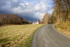 It is Raining Soon (Ludvius) Tags: road house field sunshine clouds rural countryside spring sunny dirt agriculture gravel homborsund eide grimstad knaveien
