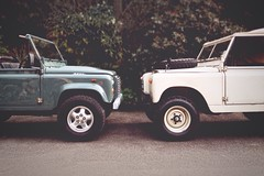 Acceptable in the 80's (CY2010) Tags: 2 classic design grain rover retro canvas land series british 88 eighties landrover comparison brit sixties alloy defender softtop ninety d90