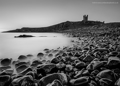 Slippery when Wet (Damon Finlay) Tags: longexposure sea 2 england blackandwhite white seascape black castle water monochrome silver big movement nikon rocks long exposure north collection northumberland northumbria northsea lee d750 pro nik stopper dunstanburgh dunstanburghcastle embleton watermovement efex leebigstopper silverefexpro2 nikcollection nikond750