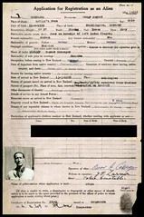 Oscar Coberger Alien registration application (Archives New Zealand) Tags: newzealand skiing pass archives southisland arthurs worldwartwo archivesnewzealand archivesnz