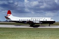 G-AOYI V.Viscount BA EMA 14-04-77 (cvtperson) Tags: east british airways 800 ema midlands vickers viscount egnx gaoyi