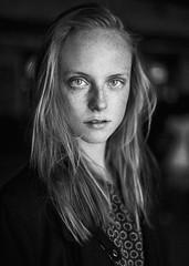 Justyna (aseptyczny) Tags: portrait blackandwhite art girl beautiful beauty eyes sigma freckles 50 freckled justyna polishmodel aseptyczny madebymilk sigma50art adrianbachut