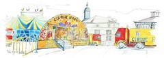 Le Cirque HART a fait rêver MELLE ! (Croctoo) Tags: watercolor aquarelle hart cirque croquis poitou melle croctoo croctoofr