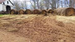 Dirt - Life on the Farm (redup66) Tags: guy work virginia tech farm farming hard samsung dirt galaxy hay bales s5 the