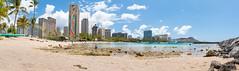 Kahanamoku Beach (Sileong) Tags: beach hawaii paradise oahu diamondhead honolulu kahanamokubeach