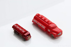 Interpretation (Derpybricks) Tags: red scale car truck model lego petrol ho esso matchbox lesney