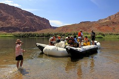 Excitement is Building (oxfordblues84) Tags: arizona sky people cloud water clouds reflections river teenagers teens tourist nativeamerican teen rafting coloradoriver raft nativeamericans leesferry whitewaterraftingtrip roadscholar roadscholartour roadscholartrip grandcanyonnationalparkexploringthenorthandsouthrims roadscholarorg