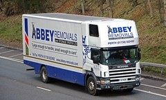 SCANIA 300 - ABBEY Removals Perth. (scotrailm 63A) Tags: trucks removals lorries