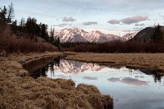 Mt. Girouard (Mark Heine Photos) Tags: ca canada reflection dusk alberta banff vermilionlakes improvementdistrictno9 markheine mtgirouard