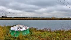 nel silenzio della natura ... (miriam ulivi) Tags: nature water grass boat barca erba acqua emiliaromagna nikond3200 naturalmente deltadelpo capannidapesca pialassadellabaiona miriamulivi