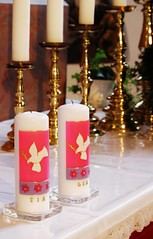 Christening/Taufe (Elis Abeth) Tags: church candle kirche kerze indoor christening taufe taufkerze