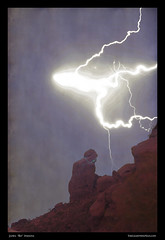 Praying Monk Lightning Burst Of Energy From Above (Striking Photography by Bo Insogna) Tags: arizona sky nature phoenix weather skyscape landscapes bolts scottsdale lightning striking storms camelbackmountain prayingmonk boinsogna thelightningmancom tmedexposure
