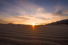 Mesquite Dunes Sunrise (Anish Patel Photo) Tags: california sunrise landscape death landscapes sand desert dunes mesquite valley sunstar