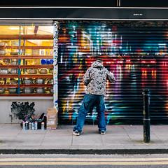 Creator (lorenzoviolone) Tags: england streetart london mural artist unitedkingdom streetphotography stranger streetartist finepix fujifilm streetphoto creator creating muralart fujiastia100f fav10 fav25 mirrorless vsco vscofilm streetphotocolor fujix100s x100s fujifilmx100s travel:uk=londonapr16
