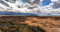 Painted Desert Storm (Fred Moore 1947) Tags: arizona sky storm clouds landscape us unitedstates desert chambers