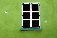 Sighisoara Windows 7 (PM Kelly) Tags: street travel windows light abstract color colour green art window ventana one 1 line romania frame sighisoara lime