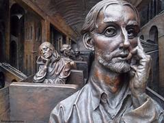 St.Pancras International #London #railway #station #PaulDay #sculptor #sculpture (khanimmukhtarova) Tags: travel sculpture london station railway stpancras sculptor paulday