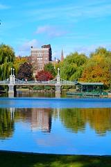 Fall Bridge (tommyleonard777) Tags: bridge autumn boston pond bostoncommon