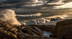 sunset surf (trubble_07) Tags: sunset sea sun beach water port sunrise coast harbor surf waves south salt wave australia surfing spray victor elliot peninsula southaustralia boomers bluff crashing fleurieu