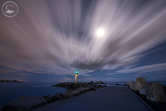 The Drift (www.35mmNegative.com(On a Break, Catchin) Tags: ocean california santa county moon lighthouse beach night clouds landscape photography moving nikon cityscape full moonlit cruz area moonlight lightstation hazarika astrometrydotnet:status=failed sfaby d800e www35mmnegativecom reetom astrometrydotnet:id=nova1534825