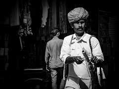 Streets of Pushkar (nicklaborde) Tags: street people india white black walking lumix photography blackwhite walk pushkar rajasthan in 500px gx7 lumixlounge lumixgx7 waiwanderaccrossindiatrip
