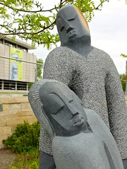 Sculpture by Norest Mashaya, detail (ali eminov) Tags: gardens utah saltlakecity sculpturegarden sculptures sculptors saltlakecitypubliclibrary zimbabwesculptors norestmashaya