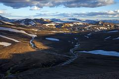 Iceland (- f i r s t l i g h t -) Tags: snow mountains water river landscape iceland glacier scandinavia