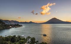 Lago de Atitlan (neritron) Tags: sunset lake water america lago atardecer agua nikon guatemala centro atitlan d750 vulcano volcan solola rokinon