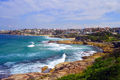 Bronte (nrose2rossi) Tags: ocean blue sky cliff beach nature beautiful beauty landscape photography walk sydney d3200