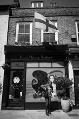 Oooh, my nail broke! (MrRatel) Tags: street england london lady flag nail streetphotography manicure twickenham nailsalon