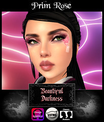 Beautiful Darkness Prim Rose (Eveila RavenWinter - (Eveila.Blackheart)) Tags: new classic beautiful rose project photography eyes darkness avatar omega makeup lips system full only layers coming blackheart soon prim primrose colaboration catwa appliers eveila