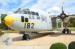C-119C Flying Boxcar, U. S. Air Force (50-0128), North Carolina, Fort Bragg-Pope Field (EC Leatherberry) Tags: aircraft military northcarolina usairforce cargoaircraft staticdisplay transportaircraft c119cflyingboxcar popearmyairfield fortbraggpopefield