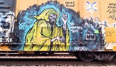 NATAS (BLACK VOMIT) Tags: art car train graffiti grim reaper box character rail boxcar freight natas reeper