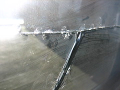 Broken Glass (Iwan Gabovitch) Tags: broken glass break crack splinter cracks glas cracked brokenwindow crackedglass splitter galss windowglass