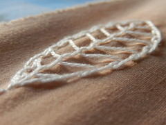 (Landanna) Tags: leaf embroidery blad borduren broderi threaddoodle