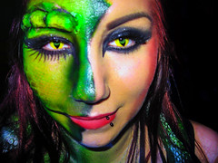 Pretty Woman......The girlfriend of my son a makeup artist (scorpion (13)) Tags: carnival party colors beauty girlfriend artist makeup cologne son an photoart the