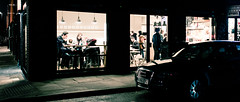 On A Break - Explored (Sean Batten) Tags: street city england people urban london coffee car night 35mm nikon df couple unitedkingdom streetphotography nighttime shoreditch gb bricklane prettycuppa