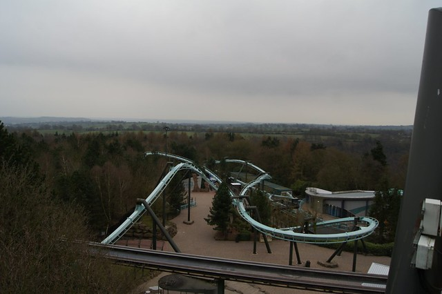An overview of Air from the lift hill