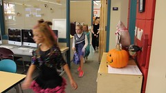 Olsen's school Halloween parade 2 (Aggiewelshes) Tags: halloween dorothy costume october halloweencostume olsen jovie 2015 edithbowen skeletonrocker
