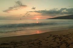 FEB 3 2016 (byronfairphotography) Tags: ocean sunset sky beach clouds hawaii sand maui sugarbeach