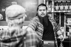 The Beard Who Sold Me an Old Fashioned (Leighton Wallis) Tags: man bar beard sony sydney hipster australia 55mm alcohol nsw newsouthwales hydepark cbd alpha f18 oldfashioned madmen mirrorless a7r dondraper emount ilce7r