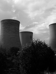 Pan Pipes (mdavidford) Tags: blackandwhite industrial power towers electricity trio soot generation didcot chimneys coolingtowers hyperbolic didcotpowerstation didcota didcotasouth