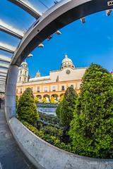Ivan J. Long - Plaza Gonzalez Arratia, Toluca Mxico (the_uliari@ymail.com) Tags: distortion architecture mexico arquitectura wideangle fisheye toluca spherical urbanphotography