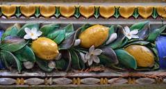 Fruit On Tap (dhcomet) Tags: flowers london kew gardens tile ceramic lemon flora border victorian frieze drinkingfountain dado listello