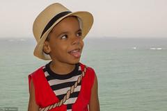 My boy. (manoel.santosjr) Tags: ocean boy sea brazil beach southamerica america child south navy free son criana es menino espritosanto chapu vilavelha sudeste