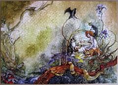 Queen of the Cats (Stephanie Pui-Mun Law) (Leonisha) Tags: cats chat snake puzzle fantasy katzen schlange jigsawpuzzle wpd