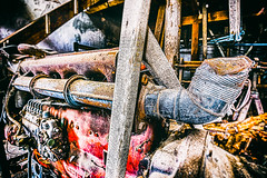 Engine Exhaust Tin Can Muffler (leroysfotos) Tags: mill abandoned lost mhle lp urbex getreide lostplaces lostplace